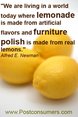 Lemonade and Furniture Polish: Our Favorite Food Quotes