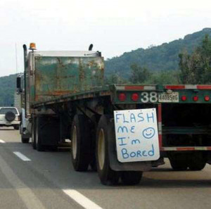 Bored Truck Driver Funny Truckers Pictures