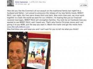 Kirk Cameron Calls Grammys Gay Weddings an