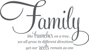 Family... Branches... Roots... Uppercase Living vinyl wall quotes and ...
