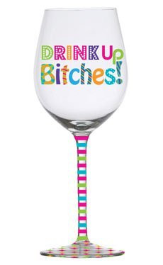 ... 16oz Frosted Wine Glass Slant Bright Sayings Collection CHECK PRICE