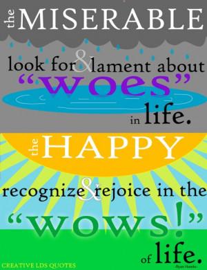 ... happy recognize & rejoice in the