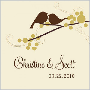 home wedding supplies favor tags personalized small love bird wedding ...