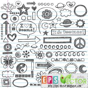 Vector - Sketchy Notebook Doodles Icon Set | EPS File | 744.55 KB