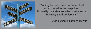 Anne Wilson Scaef quote re asking for help