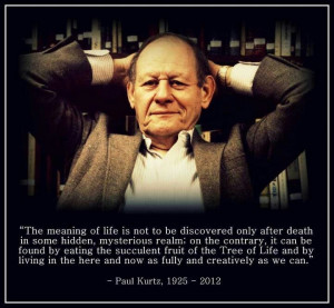 Paul Kurtz https://en.wikipedia.org/wiki/Paul_Kurtz #humanism # ...