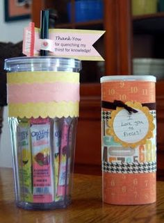 More ideas for teacher gifts. More