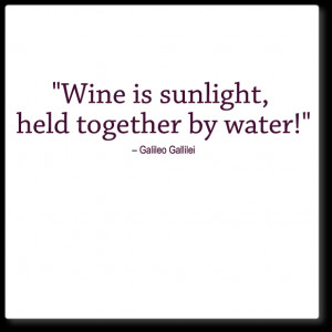 wall quote decal - wine is sunlight