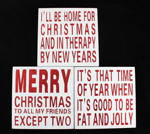 ... -Sign-Block-Home-Wall-Decor-Plaque-Box-Glitter-Funny-Saying-Quote