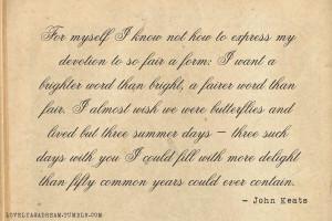 love #poem #quote #John Keats