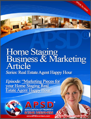 Marketing Pieces for your Home Staging Real Estate Agent Happy Hour ...