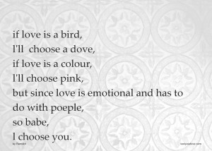 Text message - if love is a bird, l'll choose a dove, if love is a ...