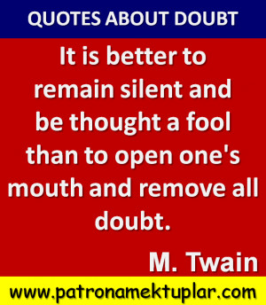 QUOTES ABOUT DOUBT (MARK TWAIN)