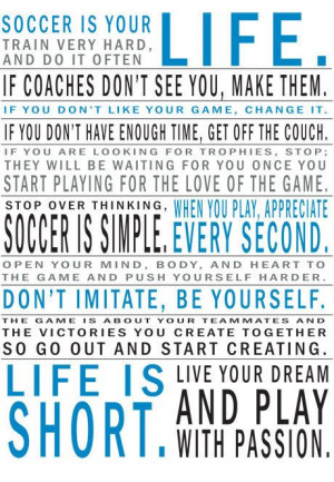 Soccer Is Your Life Manifesto Print by 11vEleven on Etsy, $22.00