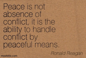 Conflict is Not the Way Forward