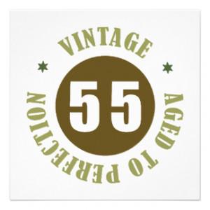 55th Birthday Gift Ideas Invites