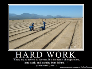 Motivational hard work photo