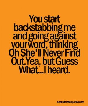 Backstabbing Quote Pictures