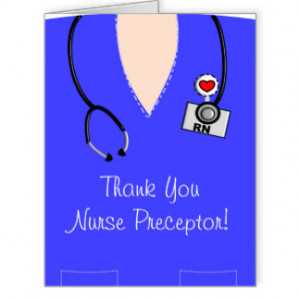 Nurse Preceptor Thank You Card IV