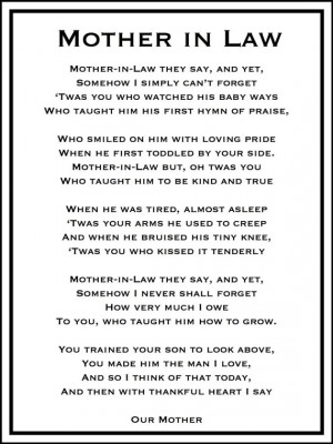 ... Mothers In Law, Mothers In Law Love Quotes, Mom Quotes For Mothers Day