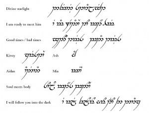 elvish tattoo quotes elvish tattoo quotes completed tengwar tattoo ...