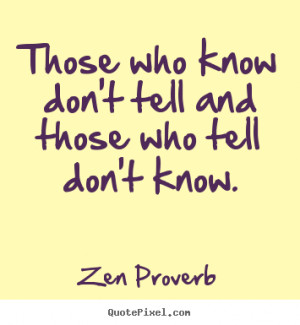How to make poster quote about inspirational - Those who know don't ...