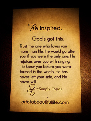 God's Got This Quote | Read More...
