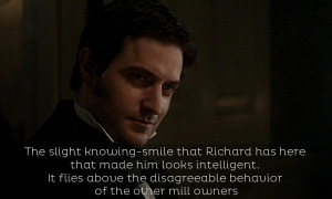 richard also worked in the same northern accent in the dinner with his