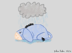 Sad Eeyore Eeyore's sad rainy days by