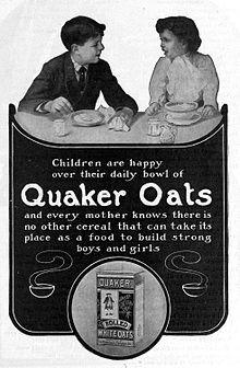 1905 advertising magazine of Quaker Oats