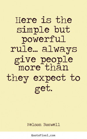 Nelson Boswell Quotes - Here is the simple but powerful rule... always ...