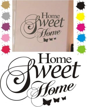 Details about WALL ART QUOTE sticker HOME SWEET lounge kitchen mural