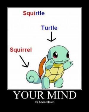 pokemon motivator mind blown squirtle