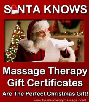 Massage Gift Vouchers for Christmas