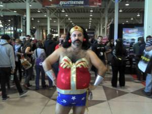 Wonder Woman cosplay horror