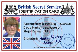 Austin Powers ID Card Front by CmdrKerner