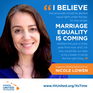 """Rep. Nicole Lowen: """"Marriage equality is coming"""""""