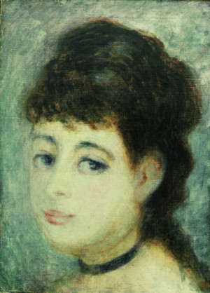 Bild: Pierre-Auguste Renoir - Renoir/Portrait of a young woman/c.1875