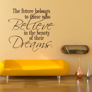 Beauty quote wall decal