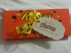 co worker thank you gift reeses pieces more thank you gift