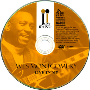 Wes Montgomery Live in '65 DVD Disc Art