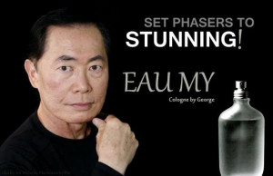 Funny George Takei Cologne Advert Joke Photo Picture