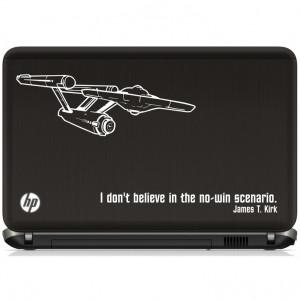 ... art inspired by Star Trek Enterprise and Kirk quote laptop vinyl decal
