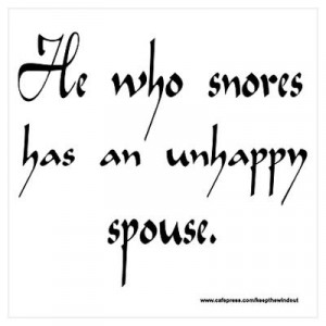 Funny Snoring Proverb Wall Art Poster