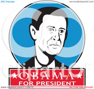 -Retro-President-Barack-Obama-Portrait-In-A-Blue-Circle-With-Obama ...