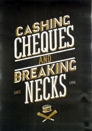 New* Cashing Cheques - John James Scott