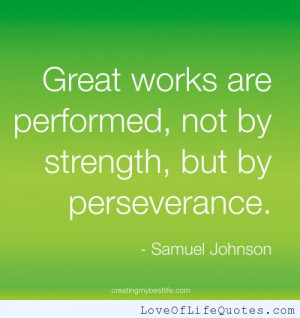 Samuel Johnson quote on Perseverance