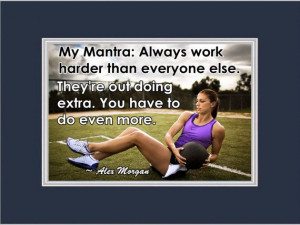 Soccer Poster Alex Morgan Photo Quote Matted by ArleyArtEmporium, $15 ...