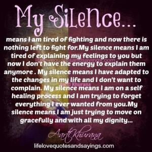 My Silence..