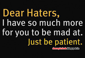 Haters Quote in English With Pic   Attitude Quote Image For Facebook